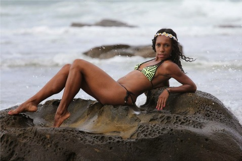 A Papua New Guinean model, Noreen Pisa, Photo credit. Camattree