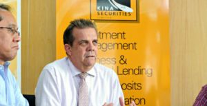 Sydney Yates, CEO of Kina Securities Limited. Photo credit: PNG Business Advantage